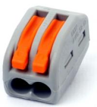 Клеммы с рычагами на 2 проводника